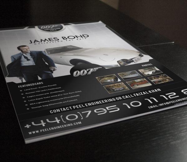 Peel Engineering James Bond Car Sale Flyer
