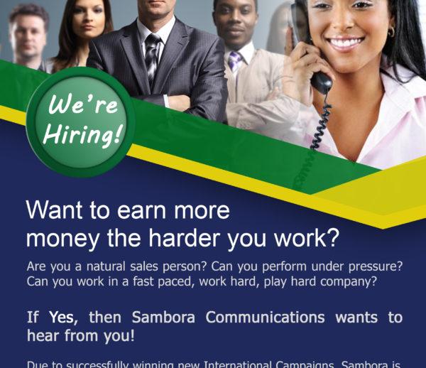Sambora Communications Jobs Flyer