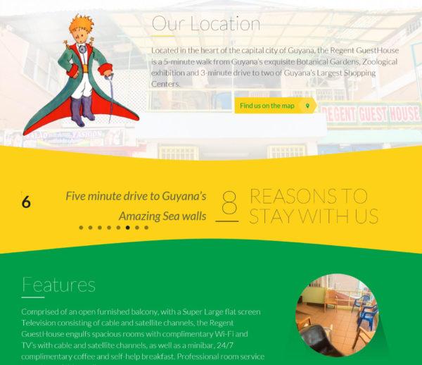 Regent Guesthouse Website Design and Development